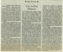 Olga Harmony, Noches Blancas, Emoé de la Parra