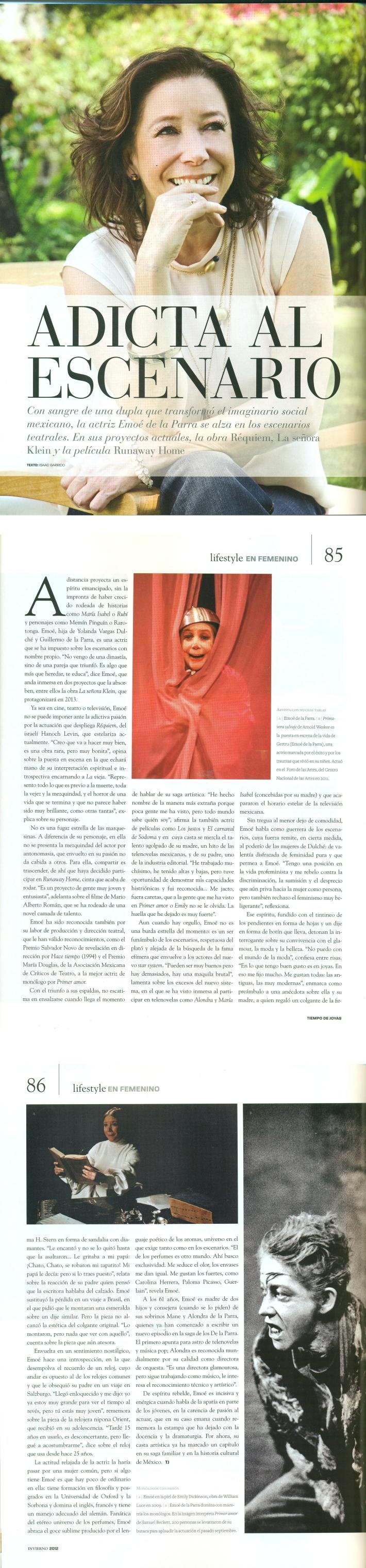 Emoé de la Parra, actriz y directora
