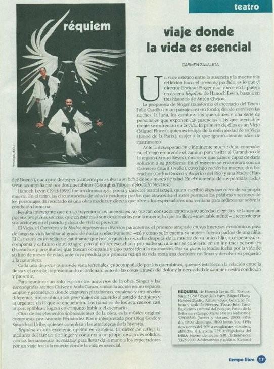 Tiempo libre / Emoé de la Parra / Carmen Zavaleta