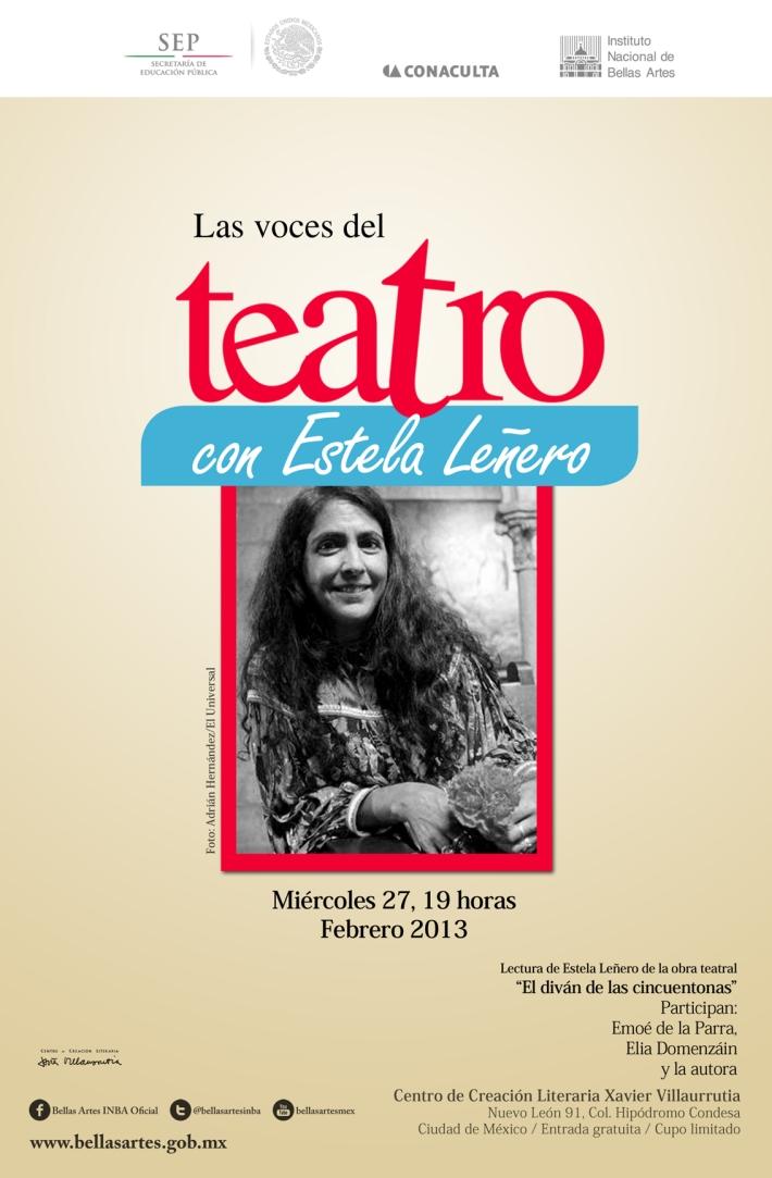 Las voces del Teatro con Estela Leñero y Emoé de la Parra